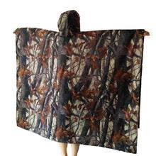 3 in 1 Outdoor Unisex Polyester Waterproof Leaf Camouflage Travel Durable Backpack Raincoat Tent Camp Mat camping mat