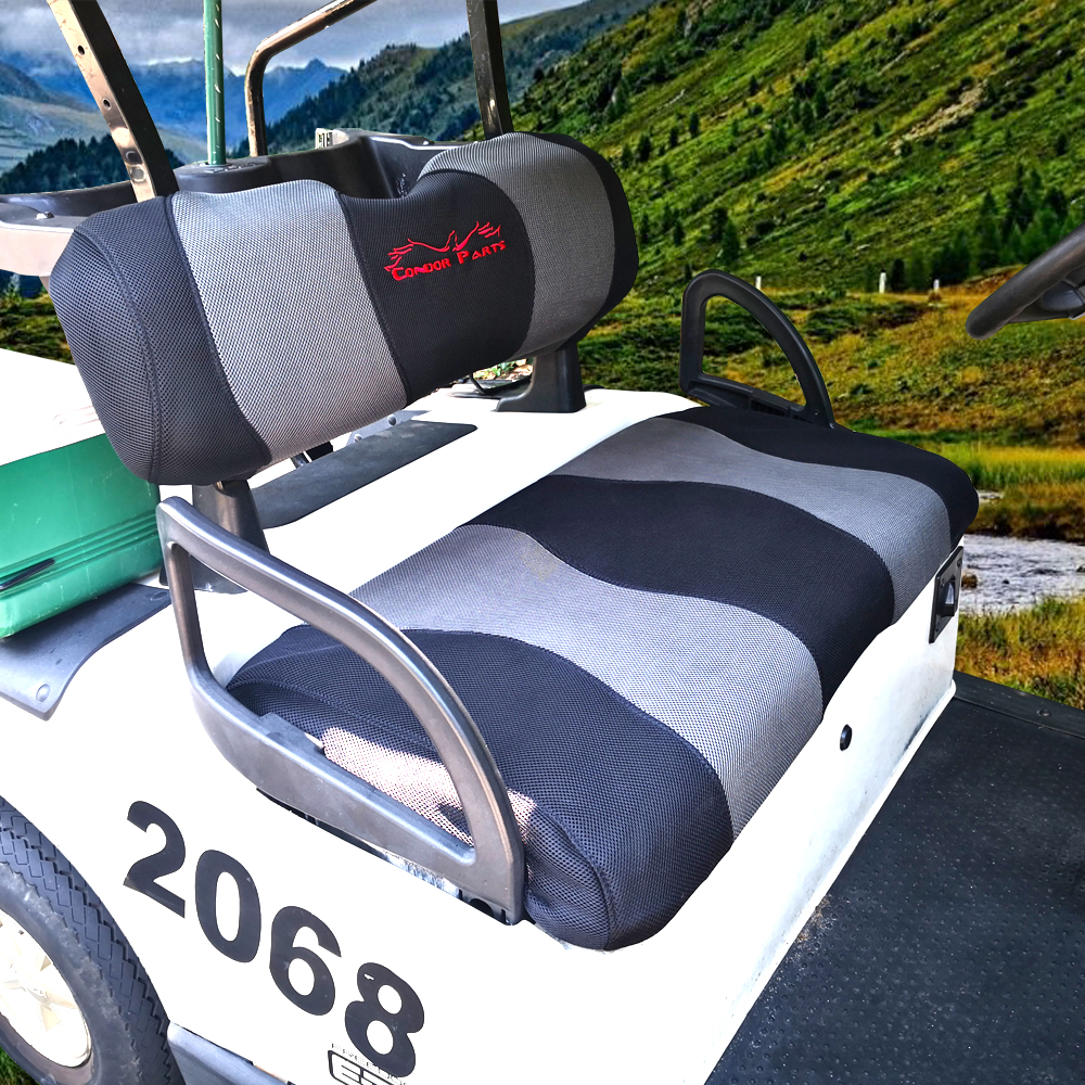 Golf Cart Seat Cover Set Fit for EZGO TXT,RXV and Club Car DS Breathable Washable Polyester Mesh Cloth. Renew your Golf Cart. 1
