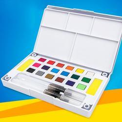 Pigment akwarela jednolity zestaw 24/36/48 kolor początkujący pakowanie przenośne z paleta kolorów dostaw sztuki Drop shipping