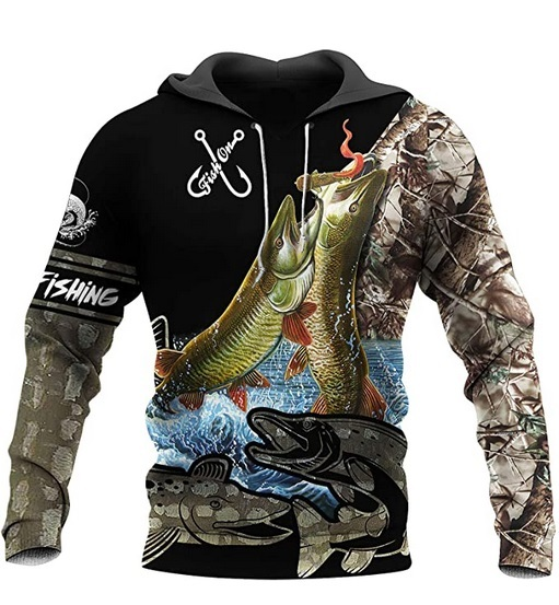 3D Print Fishing & Animal Hoodie 2