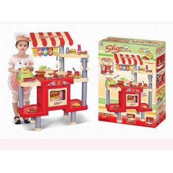 Los niños juegan casa vajilla juguetes tienda de utensilios de cocina de gabinete de educación juguete