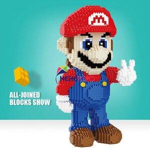 Image 4 - 2497Pcs 21801 21802 Super Mario Blok Diamant Micro Deeltje Ban Invoegen Plastic Bouwstenen Speelgoed Voor Kinderen Geschenken