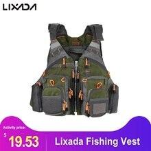 Lixada, жилет для рыбалки, для мужчин, для улицы, дышащий, безопасный спасательный жилет, для ловли нахлыстом, куртка, приталенное пальто, жилет, утилита, плавающая мужская одежда