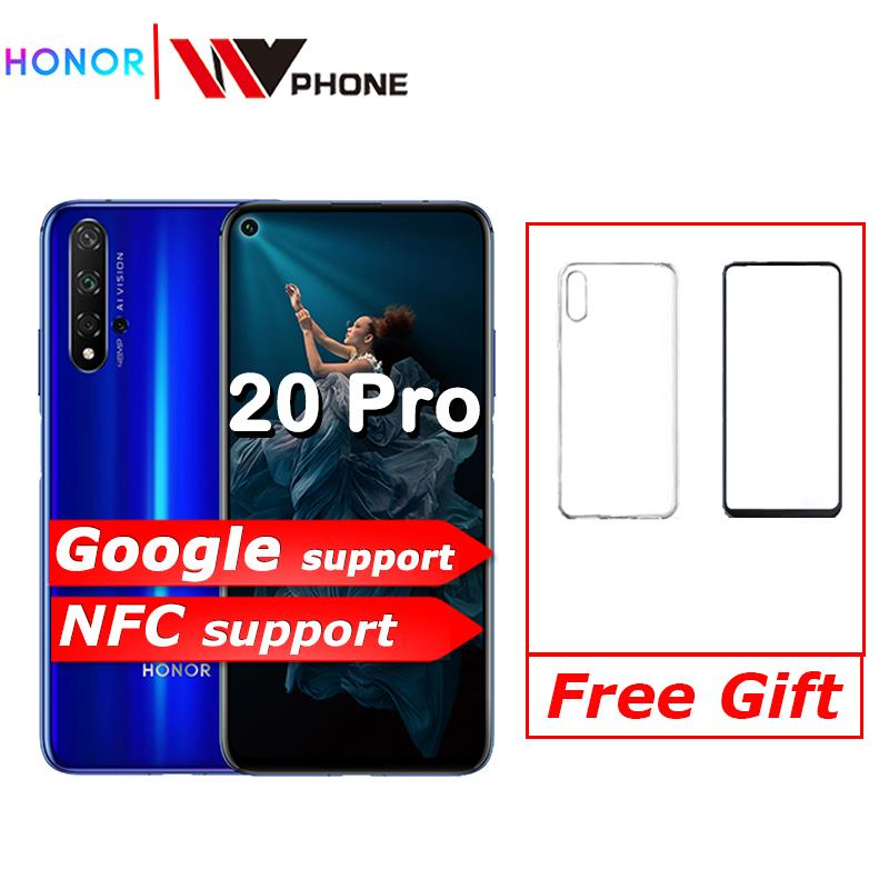 Honor 20 Honor 20 Pro NFC Mobile Phone Kirin 980 Android 9.0 6.26 Inch Screen 4000mAh Battery Smartphone