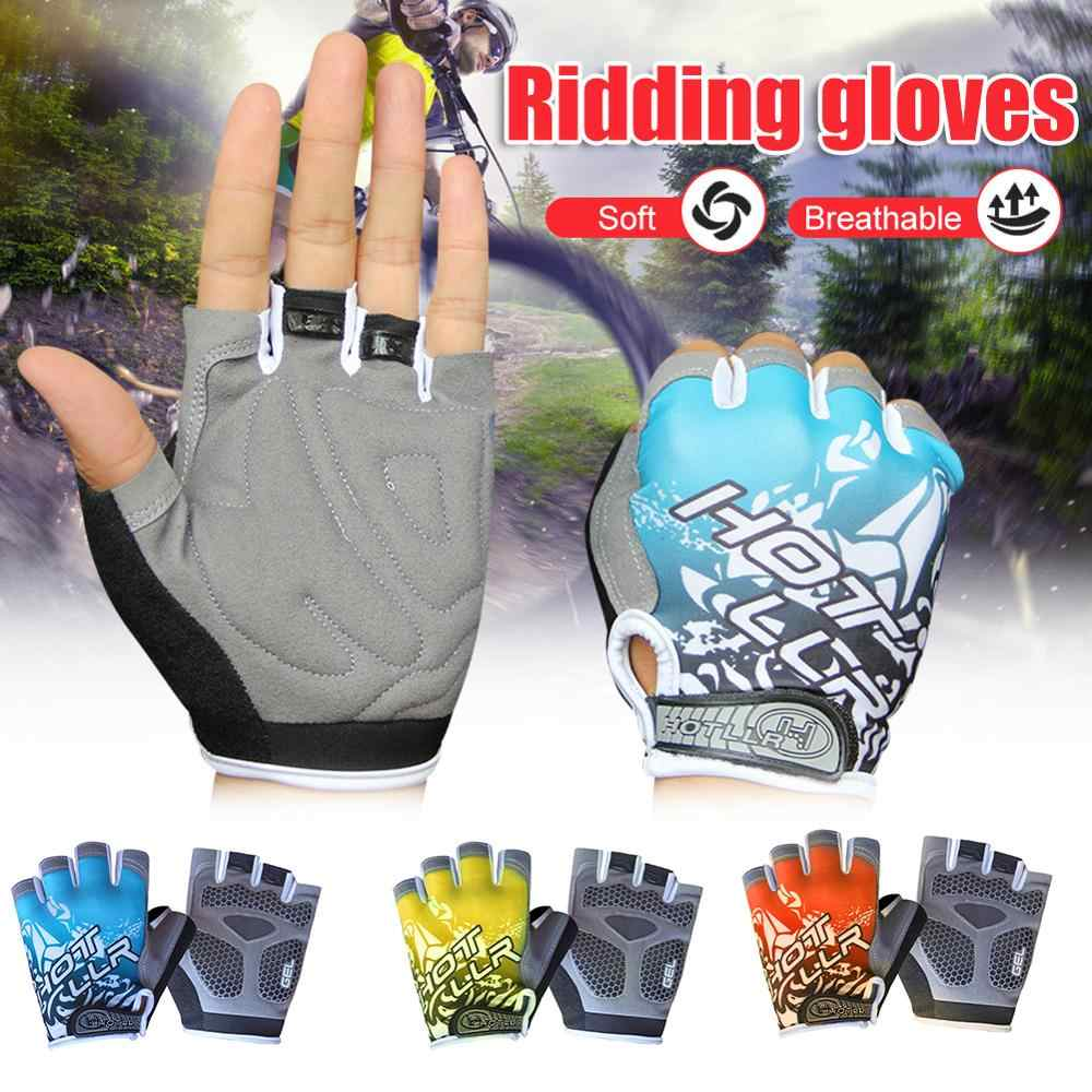 SPORTS Handschuhe Fahrrad 1 Paar Halb-Finger Atmungsaktiv Rutschfest Zubehör