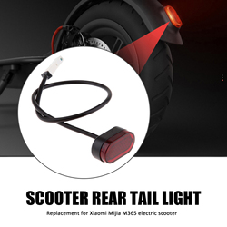 Electric Scooter Tail Light Replacement Rear Tail Light Replacement for Xiaomi Mijia M365 Skateboard Warning Replacement Parts