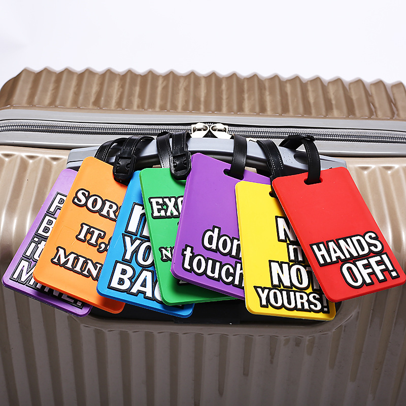 Travel Accessories Luggage Tag Cute Letter Hands Off Silica Gel Suitcase ID Addres Holder Baggage Boarding Tag Portable Label