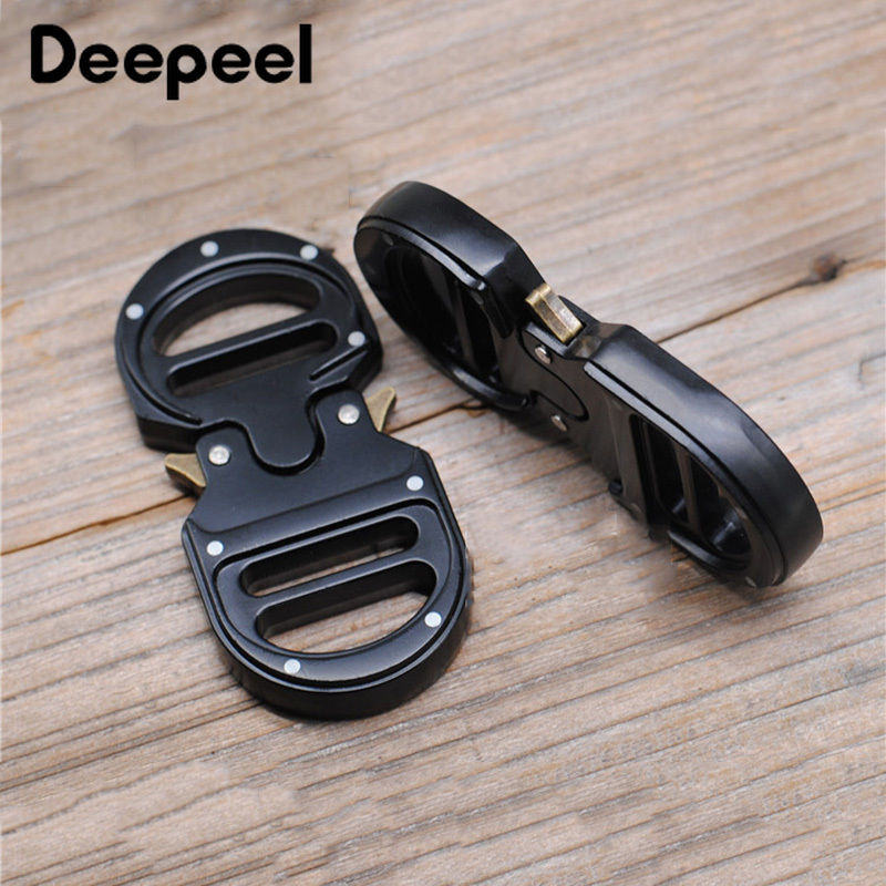 Deepeel 1pc ID25mm Metal Release Buckle Double Adjustment Tactical Belt Buckles Head DIY Luggage Hooks Parts Accessories YK051