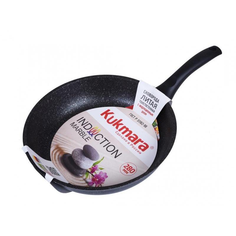 Frying Pan Kukmara, Dark Marble, 28 Cm