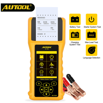 AUTOOL BT760 Car Battery Tester 12V 24V CCA Analyzer Automotive Batteries Charging Test Auto Diagnostic Tools with Thermal Print