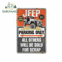 EARLFAMILY 13cm x 8.7cm pour Jeep Parking seulement signe en métal voiture pare-chocs fenêtre vinyle voiture autocollants autocollants imperméables pour GTR EVO SX