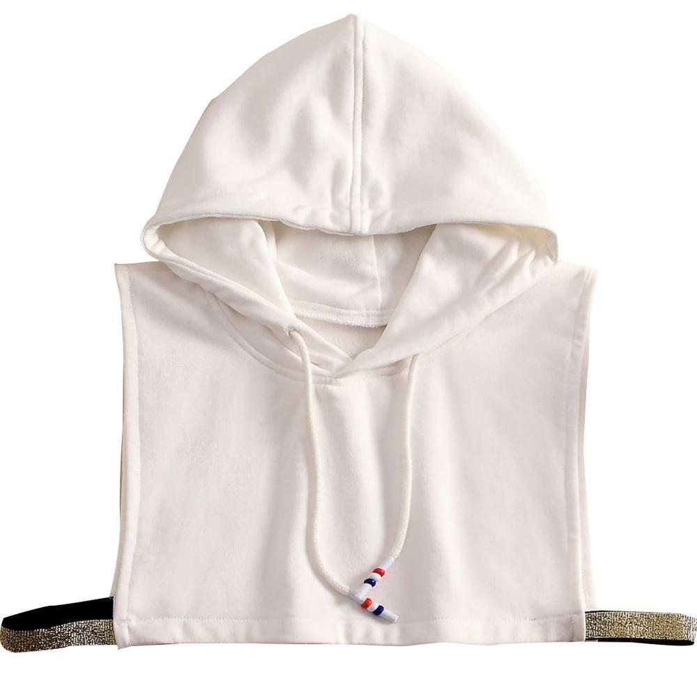 Chiffon White Women Fake Collar Beaded Crystal Removable Faux  Black Fake Collar Women Collar High Removable Detachable Collars
