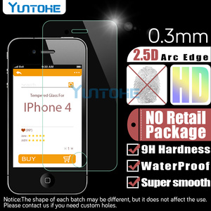 Image 2 - 100 개/몫 강화 유리 아이폰 12 11 프로 XS 최대 XR X 8 7 6 5 4 화면 보호기 소매 상자와 안티 스크래치 수호자