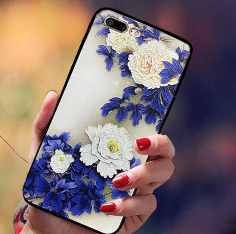 3D relieve flor caso para Xiaomi 9 9SE 8 8SE 8LITE 8 explorar 4 5 5C 5S 5X6X7 nota 2 3 mezclar 2 2s 3 caja del teléfono de silicona fundas
