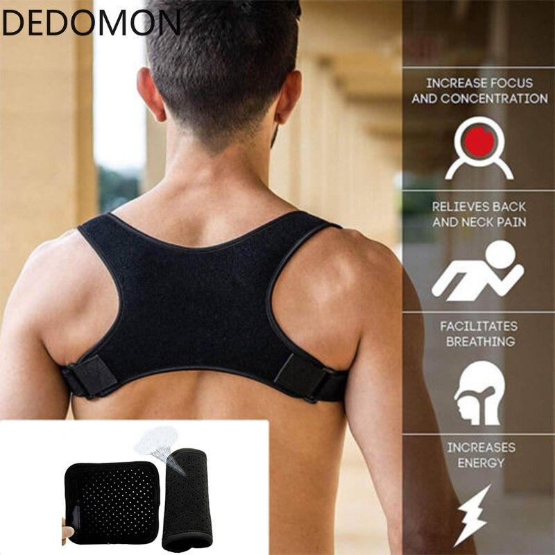 Posture Corrector Back Support Shoulder Support Brace Strap Back Pain Reliver Belt Clavicle Spine Lumbar Posture Correction
