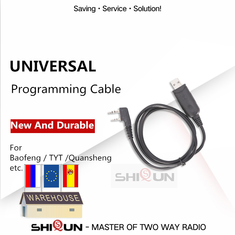Universal Radio Programming Cable For Walkie Talkie Accessory For Baofeng UV-5R UV 5R Bf-888S UV-82 TYT TH-UV8000D KD-C1 Radios
