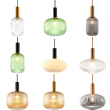 Light Luxury Single Head Chandelier Bedside Net Red Bar Personalized B & B Bar Milk Tea Shop Nordic Glass Restaurant Lamp