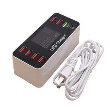 8 Port Multi Fast USB Charger Quick Charge 3.0 Multiple Phone Charging Station Universal HUB QC
