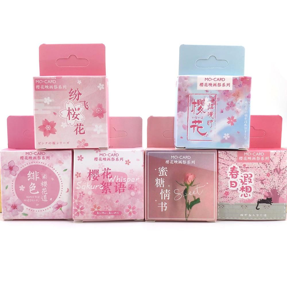Adesivos decorativos para scrapbooking, adesivos de papelaria com flores fofas para decoração faça você mesmo, material para diário e jornal, 1 caixa