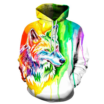 Tessffel Animal art Wolf Cartoon Harajuku Casual Colorful Tracksuit 3DPrint Unisex streetwear zipper/Hoodies/Jacket Men Women s4 2