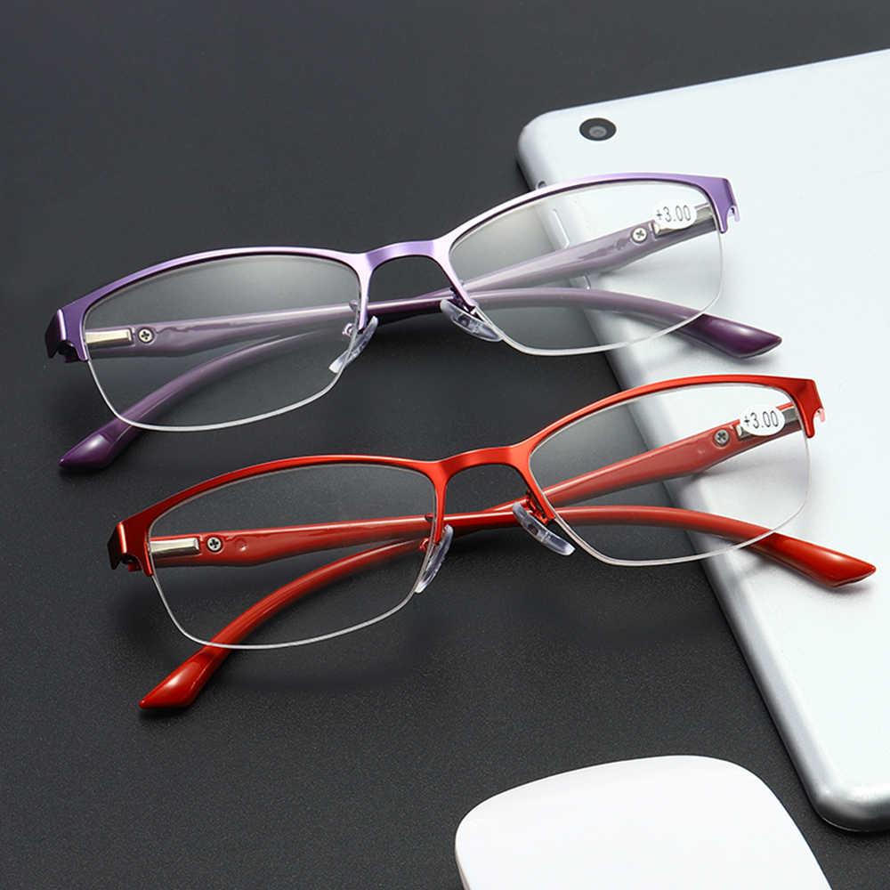 ธุรกิจอ่านหนังสือแว่นตาสำหรับผู้ชายผู้หญิงโลหะแว่นตา Presbyopia UV ป้องกัน Vision Care แว่นตาอ่านหนังสือ Diopter + 1.0 to 4.0