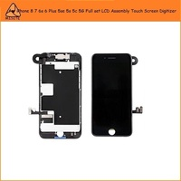 10Pcs Full LCD Display Screen Digitizer Assembly for i Phone 8 7 6s 6 Plus 5se 5s 5c 5 LCD Touch Screen Camera Flex+Home Button