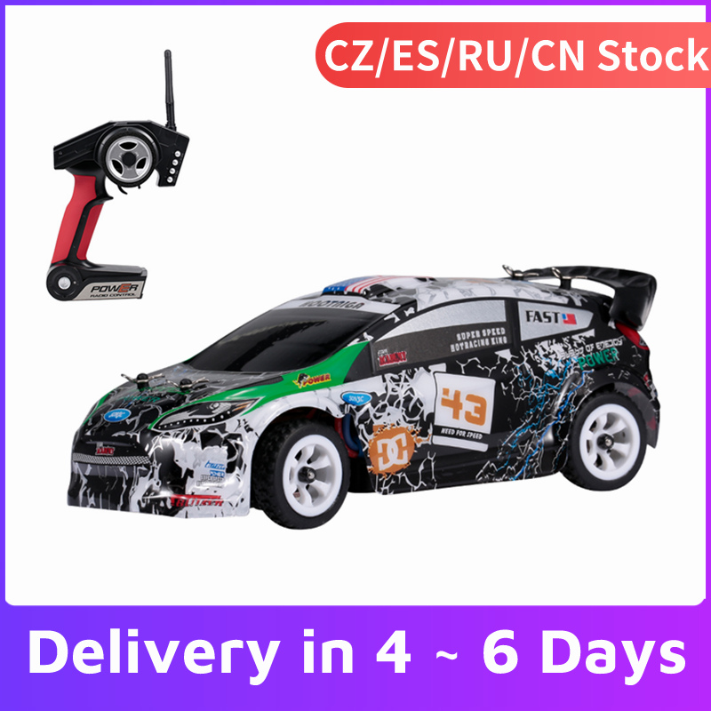 WLtoys-coche de carreras teledirigido de alta velocidad para niños, juguete de coche de derrape K989 1/28, 2,4G, 30 KM/H, 4WD