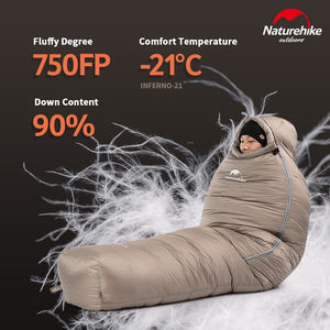 Image 4 - 2020 neue Naturehike  21 °C Gans Unten Schlafsack 750FP Professional Outdoor Camping Wandern Warme Wasserdichte Mummy Schlafsack