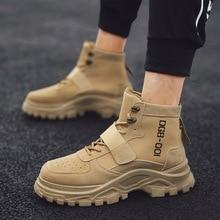 Бархатная Мужская обувь для работы; сезон осень; стиль; Ботинки martin с высоким берцем; Мужская обувь; Повседневная Уличная спортивная обувь для бега; трендовая обувь