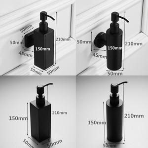 Image 4 - 304 ze stali nierdzewnej naścienny mydło w płynie butelka z dozownikiem zlew kuchenny i umywalka łazienkowa balsam ręczny czarny 210ml wisząca butelka