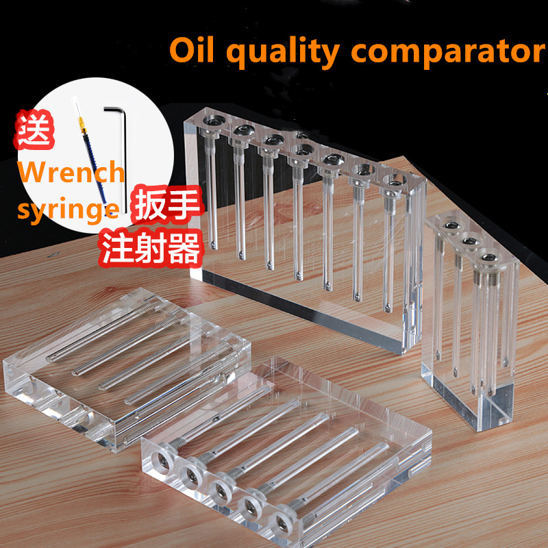 Automotive Oil Quality Contraster Turn-over Acrylic Glass Demonstration Oil Viscosity Testing Tool Comparator