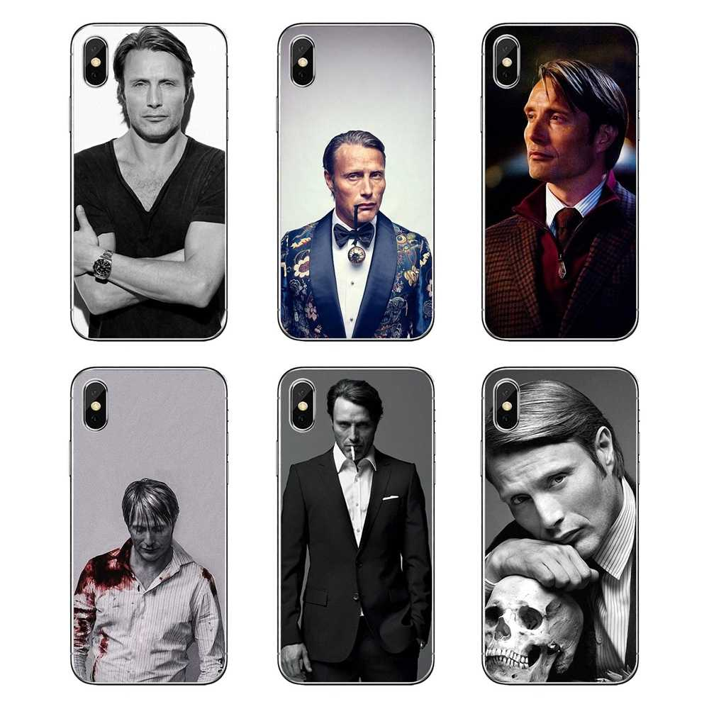 Graham hannibal mads mikkelsen di Arte Soft Shell Trasparente Copre Per iPod Touch iPhone 4 4S 5 5S 5C SE 6 6S 7 8 X XR XS Plus. MAX