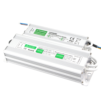 Трансформатор 110 В 220 В до 12 в 24 в источник питания 20 Вт 30 Вт 50 Вт 80 Вт IP67 Водонепроницаемый AC DC 12 В 24 в источник питания 12 24 В Вольт светодиодный ...