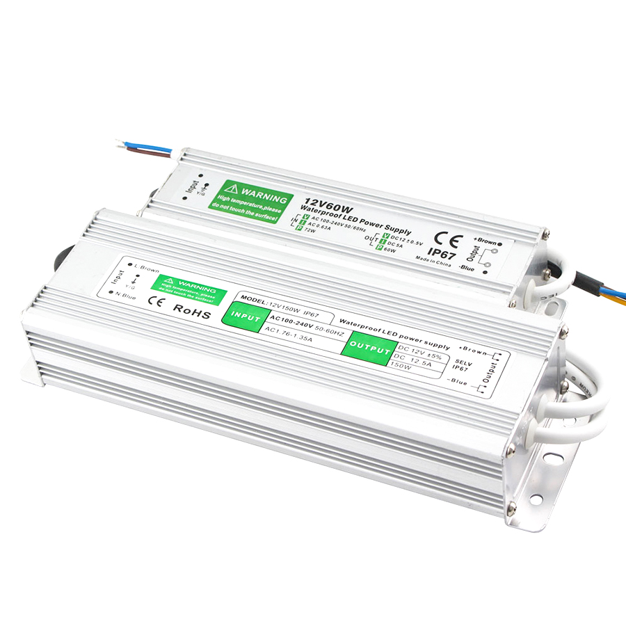 Transformer <font><b>110V</b></font> 220V To <font><b>12V</b></font> 24V <font><b>Power</b></font> <font><b>Supply</b></font> 20W 30W 50W 80W IP67 Waterproof AC DC <font><b>12V</b></font> 24V <font><b>Power</b></font> <font><b>Supply</b></font> 12 24 V Volt led Driver image