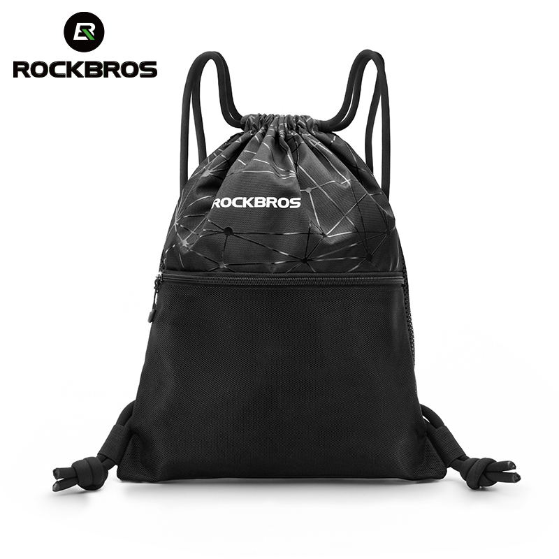 Bolsa de gimnasio ROCKBROS para hombres y mujeres con cordón mochila de alta capacidad para deportes al aire libre, bolsa de almacenamiento para ciclismo, bolsa de Yoga multiusos