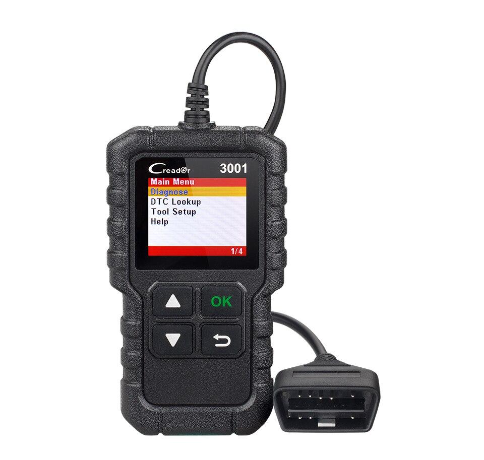 H62fc79afb39d4b4485fde054c94d165ch LAUNCH X431 CR3001 OBD2 Scanner Support Full OBD II/EOBD Launch Creader 3001 Auto Scanner diagnostic PK CR319 ELM327 V1.5 v2.1