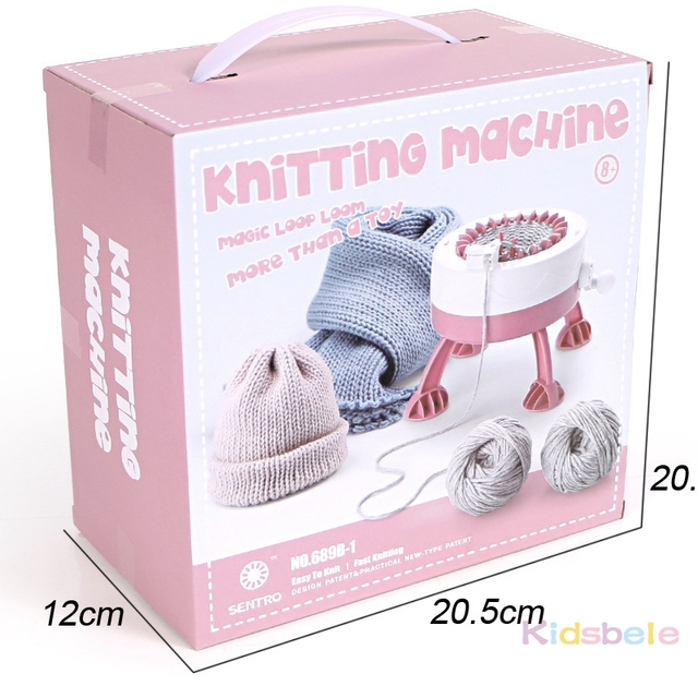 Kids Knitting Machine Toy 22 Needle Positions Mini Furniture Toy Weaving Loom For Dolls Scraf Hat Educational Girls Toy Gift