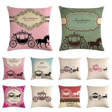 Funda de cojín de algodón de lino para silla de asiento decoración para el hogar almohadas de sofá 1451