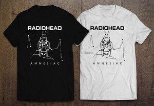 RADIOHEAD AMNESIAC OK COMPUTER Men BLACK WHITE T-SHIRT Cool Casual pride t shirt men Unisex New Fashion tshirt Loose Size top