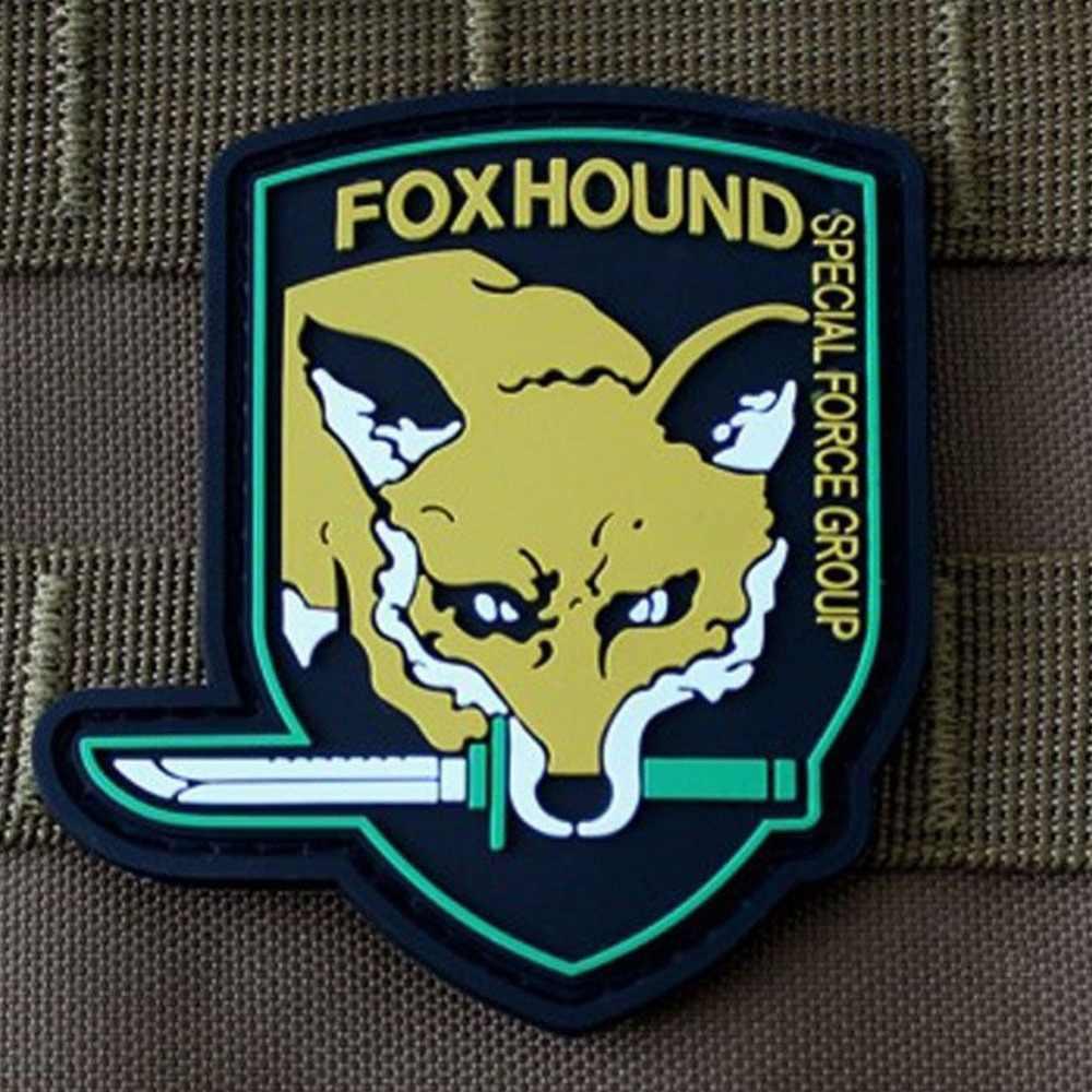 FOXHOUND FOX HOUND Patche SPECIAL FORCE PVC 3D ยางโลหะเกียร์ทหาร PVC ป้าย Patches สำหรับกระเป๋าเป้สะพายหลังเสื้อ
