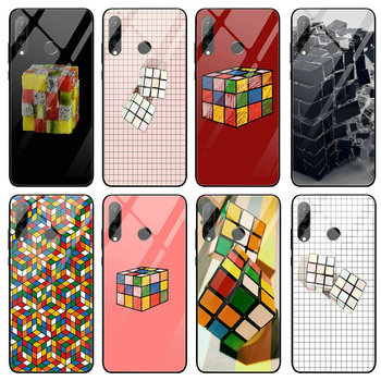 Szkło hartowane etui na telefony dla Huawei Honor 6X 8 8A 9 10 P20 P30 Mate 20 Y6 Y9 Lite Pro 2019 kostka Rubiks teoria wielkiego podrywu serce