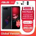 Original ASUS ROG Phone 5 Global Version Snapdragon888 16GB RAM 256GB ROM 6000mAh 65W NFC Android Q OTA Update Gaming Phone ROG5