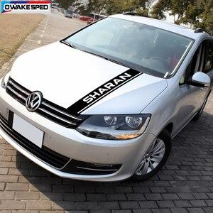 Image 3 - 1 set di Sport Strisce Minigonne laterali Auto Hood Bonnet Sticker Per Volkswagen Sharan Auto Corpo Decorazione Della Decalcomania Del Vinile di Sintonia accessori