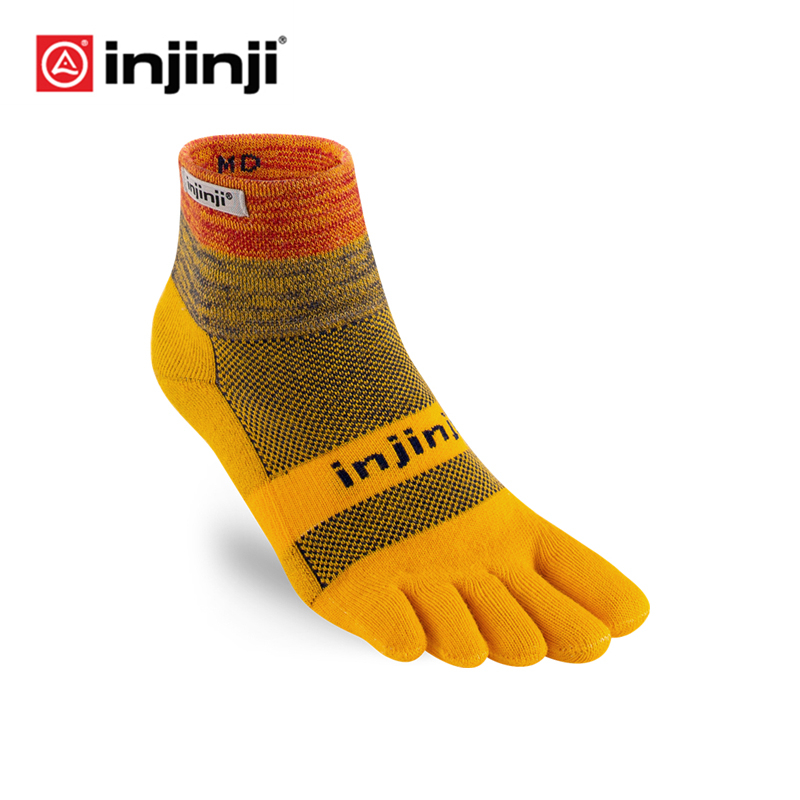 INJINJI Five-finger Sneakers Socks 2019 Trail Midweight Mini-Crew Cross-country Wear-resistant Quick-drying Warm Outdoor Hiking
