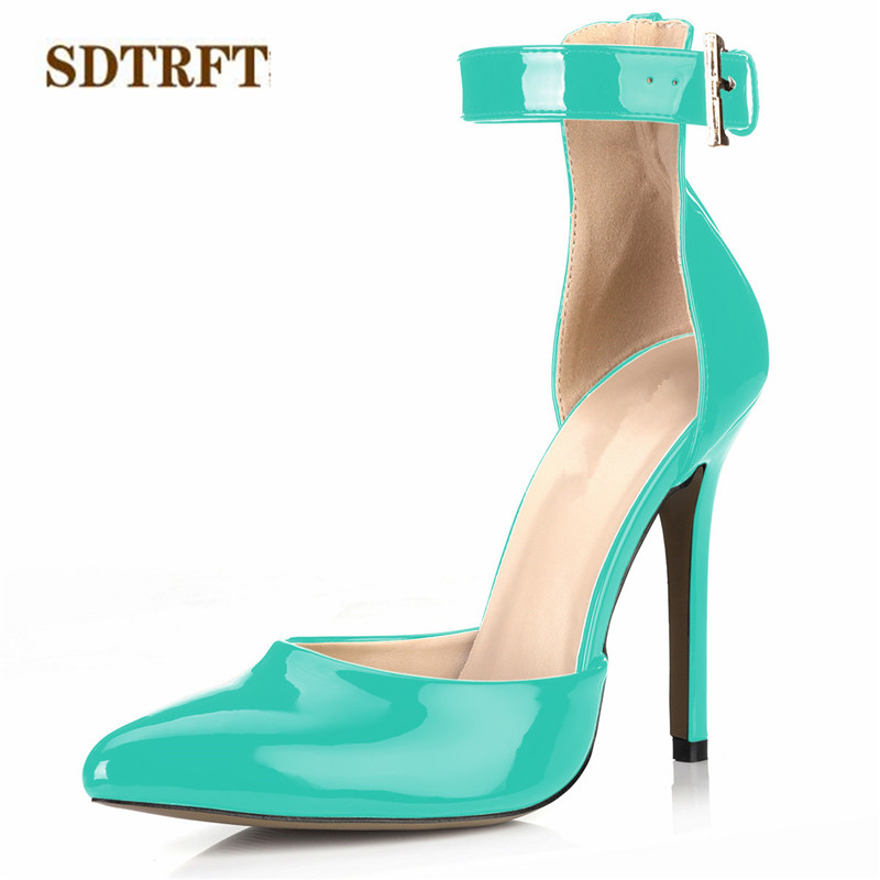 SDTRFT D'Orsay shoes woman zapatos mujer Stiletto female Top quality Sandals 12cm thin heels Shallow Mouths Pointed Toe pumps