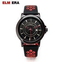 ELM ERA Men's Watch carbon fiber watch shockproof waterproof watch men's sports strap black men's luxury watch
