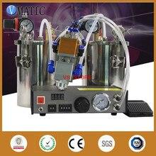 Kostenloser Versand Automatische Dispenser Set + Edelstahl Luftdruck Tank + Double Action Zwei Zylinder Abgabe Pneumatische Ventil