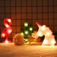 Luz Led de noche con forma de unicornio/flamenco/Estrella para decoración de habitación de bebé, lámpara de mesa para fiesta de boda, decoración del hogar, 1 Uds.