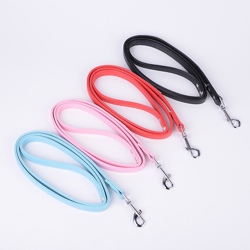 New Style Pet Traction Rope PU Leather With Man-made Diamond Dog Traction Belt Dog Pet Chain Pet Supplies
