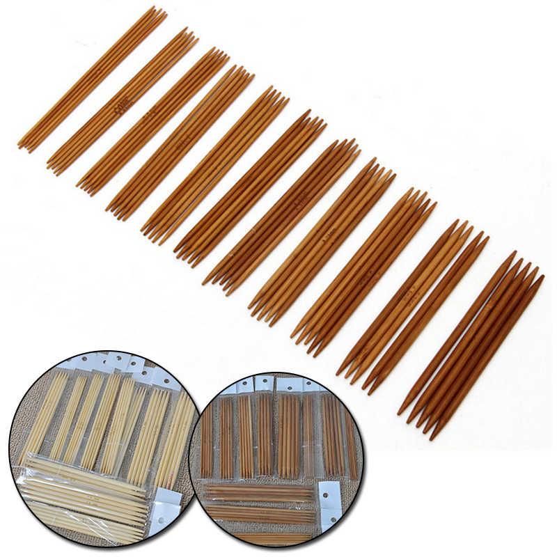 30cm Agujas de tejer de bambú de Apple verrugosa Pines 3mm